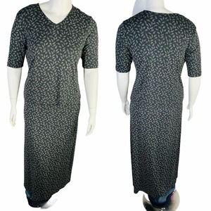 Talbots Skirt Set Grey Floral Long Skirt Set Large